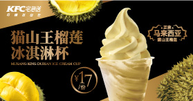 猫山王榴莲冰淇淋