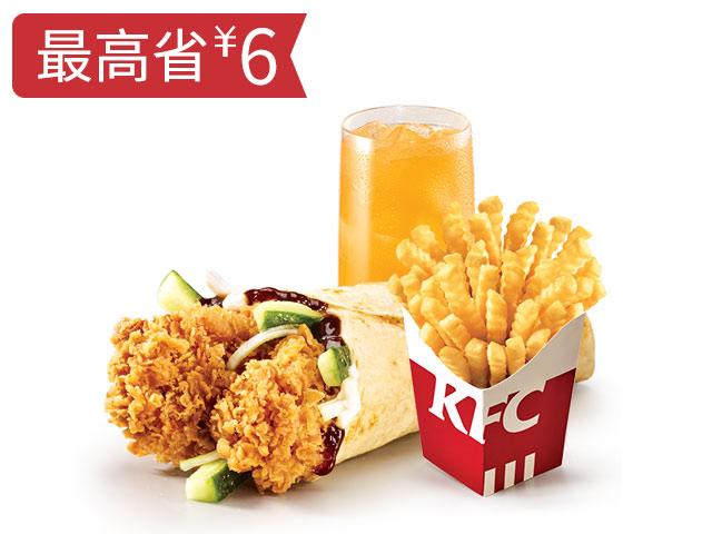 老北京鸡肉卷+波纹薯条+饮品随心换